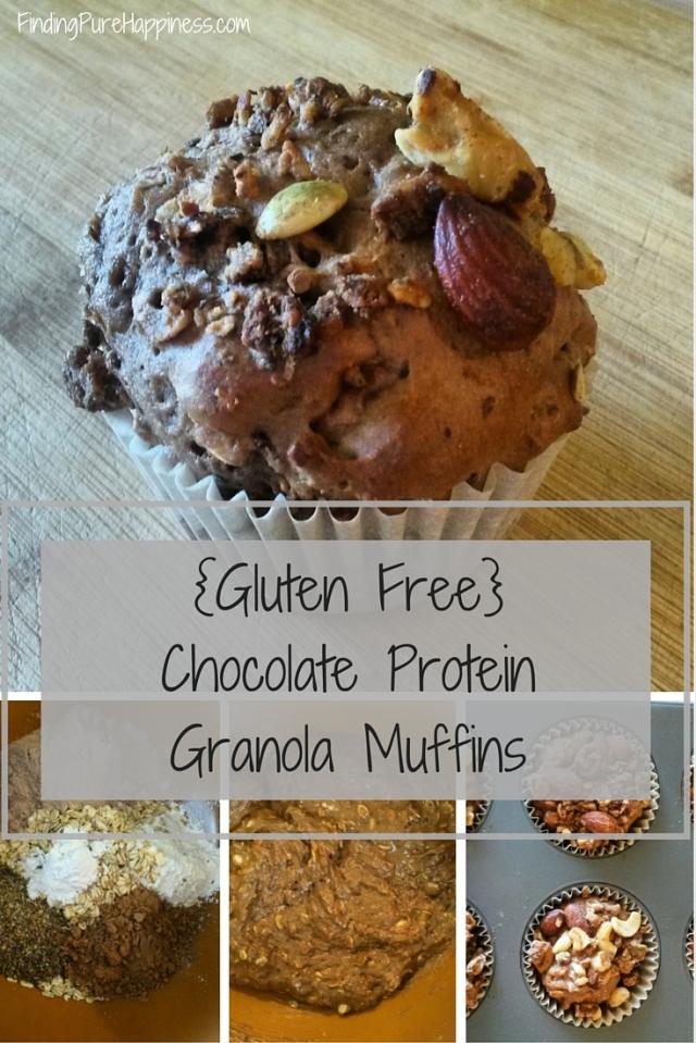 {Gluten Free} Chocolate ProteinGranola Muffins
